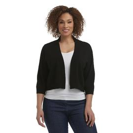 Ronni Nicole Women's Plus Cropped Three-Quarter Sleeve Cardigan at Sears.com