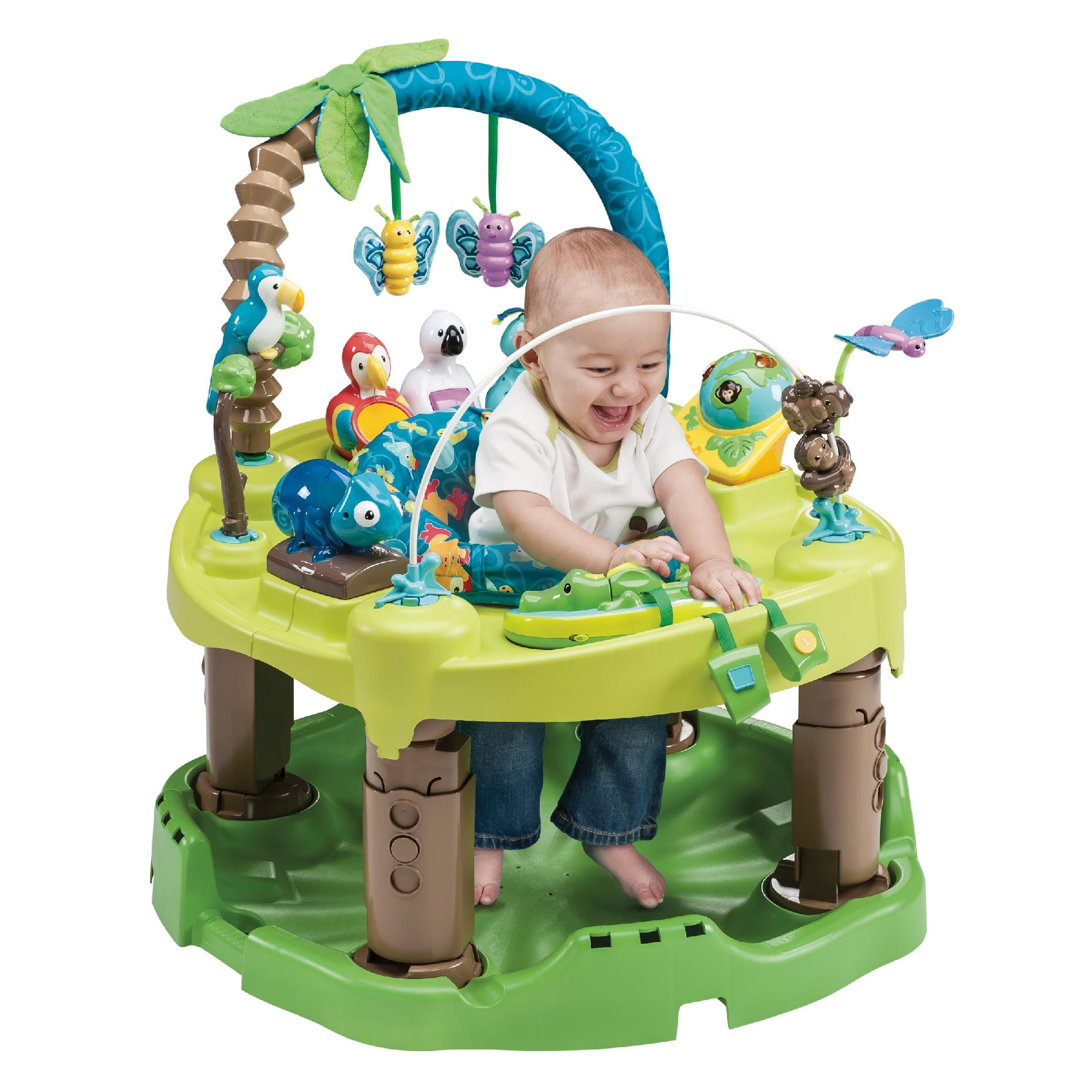 ExerSaucer,Evenflo Evenflo ExerSaucer Triple Fun Activity Center - Life in the Amazon PartNumber: 04924394000P