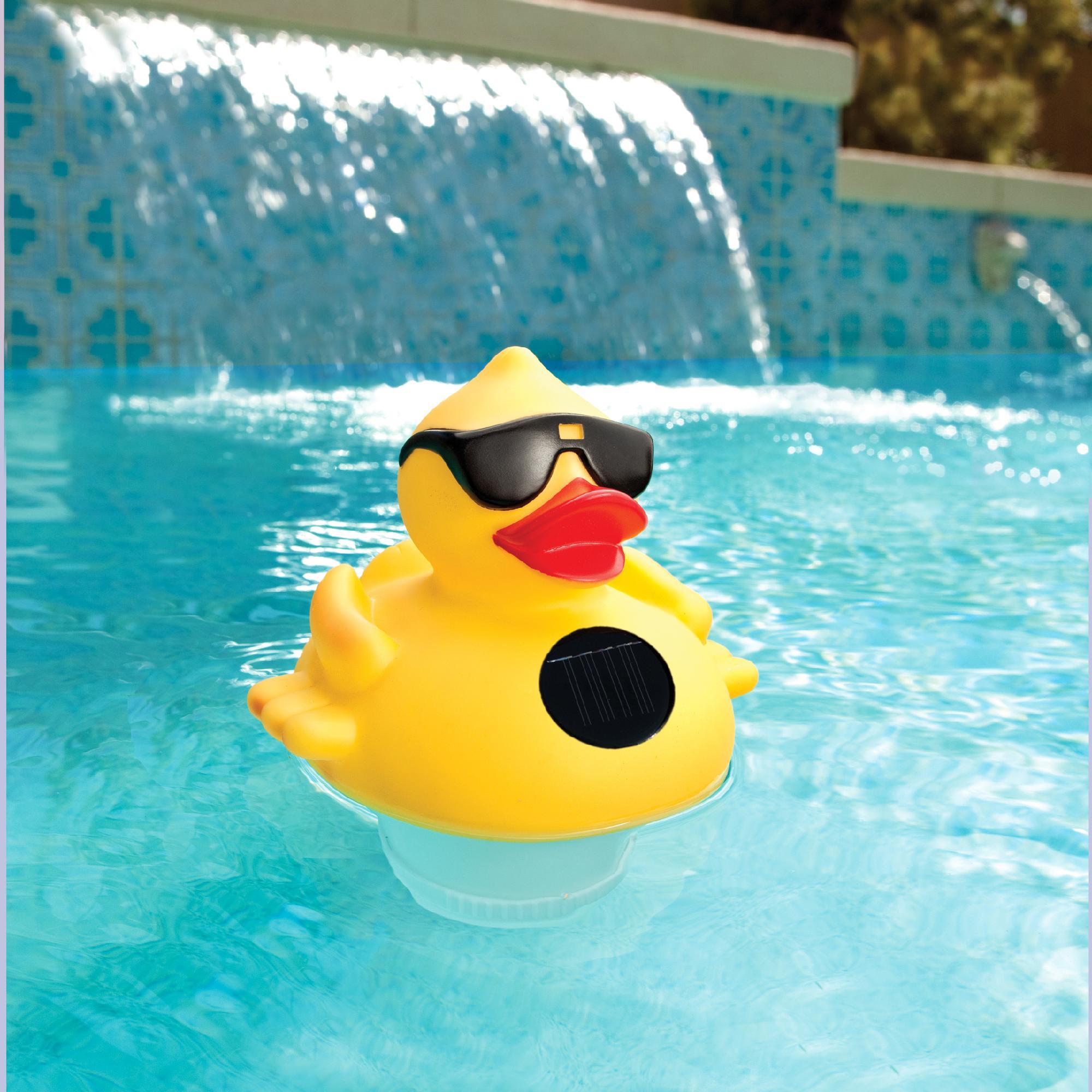 blue wave derby duck solar light up pool spa chlorinator