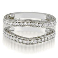 AMCOR Platinum 0.42 cttw. Antique Round Cut Diamond Enhancer Guard Wedding Ring (I1, H-I) at Sears.com