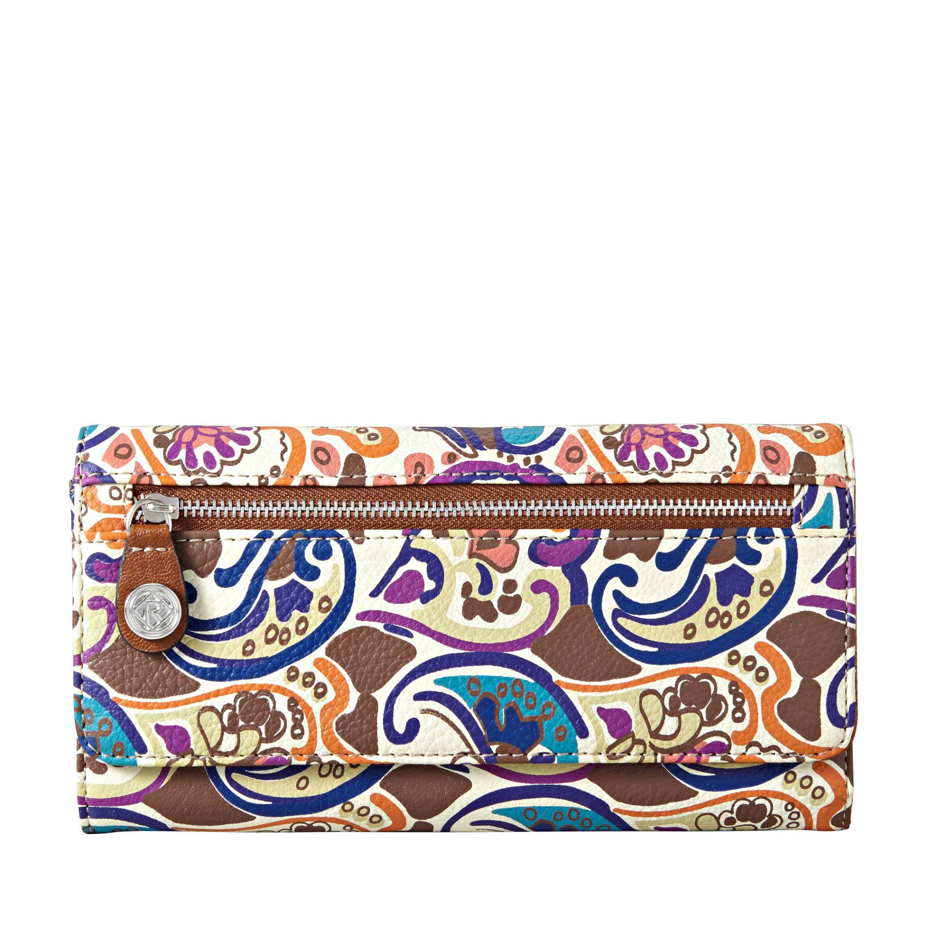 Relic Women's Palomar Tri-Fold Checkbook Wallet - Wave