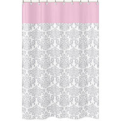 Pink Grey Shower Curtain