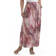 Jaclyn Smith Women's Maxi Skirt - Abstract Dots