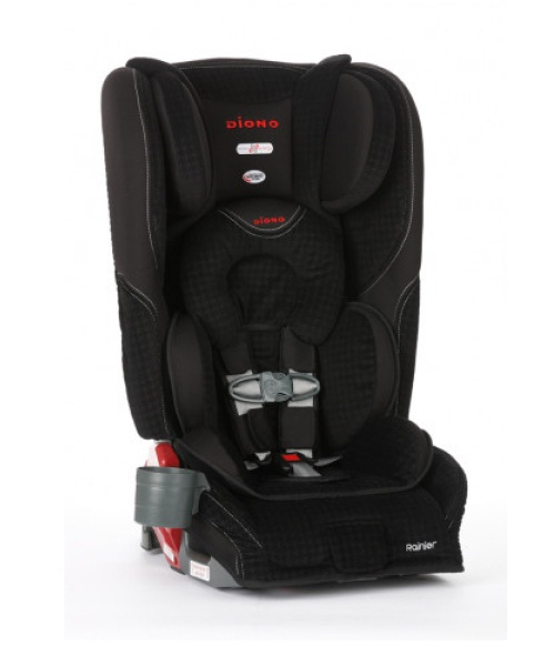 Rainier Convertible to Booster Car Seat - Houndstooth Black