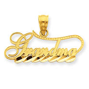 goldia 14K Yellow Gold Diamond Cut Grandma Charm at Kmart.com