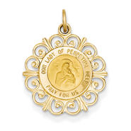 goldia 14k Yellow Gold Our Lady of Perpetual Help Medal Charm at Kmart.com
