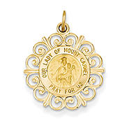 goldia 14k Yellow Gold Our Lady of Mt. Carmel Medal Charm at Kmart.com