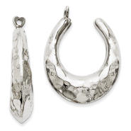 goldia 14k White Gold Hammered Hoop Earrings Jackets at Kmart.com