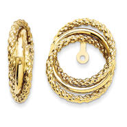 goldia 14k Yellow Gold Polished & Twisted Fancy Earrings Jackets at Kmart.com
