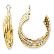 goldia 14k Yellow Gold Polished Hoop Earrings Jackets at Kmart.com