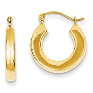 goldia 14k Yellow Gold Polished Hoop Earrings at Kmart.com