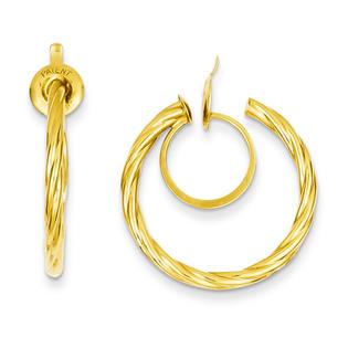 goldia 14k Yellow Gold Twisted Non-pierced Hoop Earrings