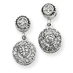 14k White Gold AA Diamond Vintage Earrings at Kmart.com