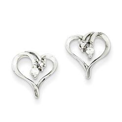 goldia 14k White Gold AA Diamond Heart Earrings at Kmart.com