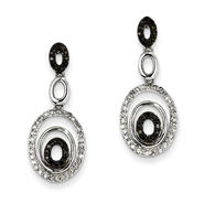 goldia 14K White Gold Black & White Diamond Post Earrings at Sears.com