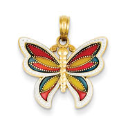 goldia 14K Yellow Gold Enameled Wings Butterfly Pendant at Kmart.com