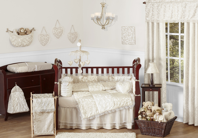 Sweet Jojo Designs Victoria Collection 9pc Crib Bedding Set