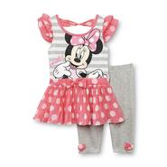 Disney Baby Minnie Mouse Infant & Toddler Girl's Dress & Leggings - Polka-Dot at Sears.com