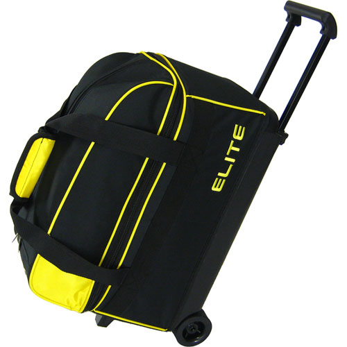 Elite Basic Double Roller Yellow Bowling Bag