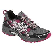 Asics Women's GEL-Venture Trail Running Athletic Shoe - Grey/Black/Pink at Sears.com