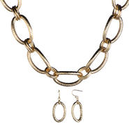 Emitations Addie's Gold Link Statement Necklace and Earrings Set at Sears.com