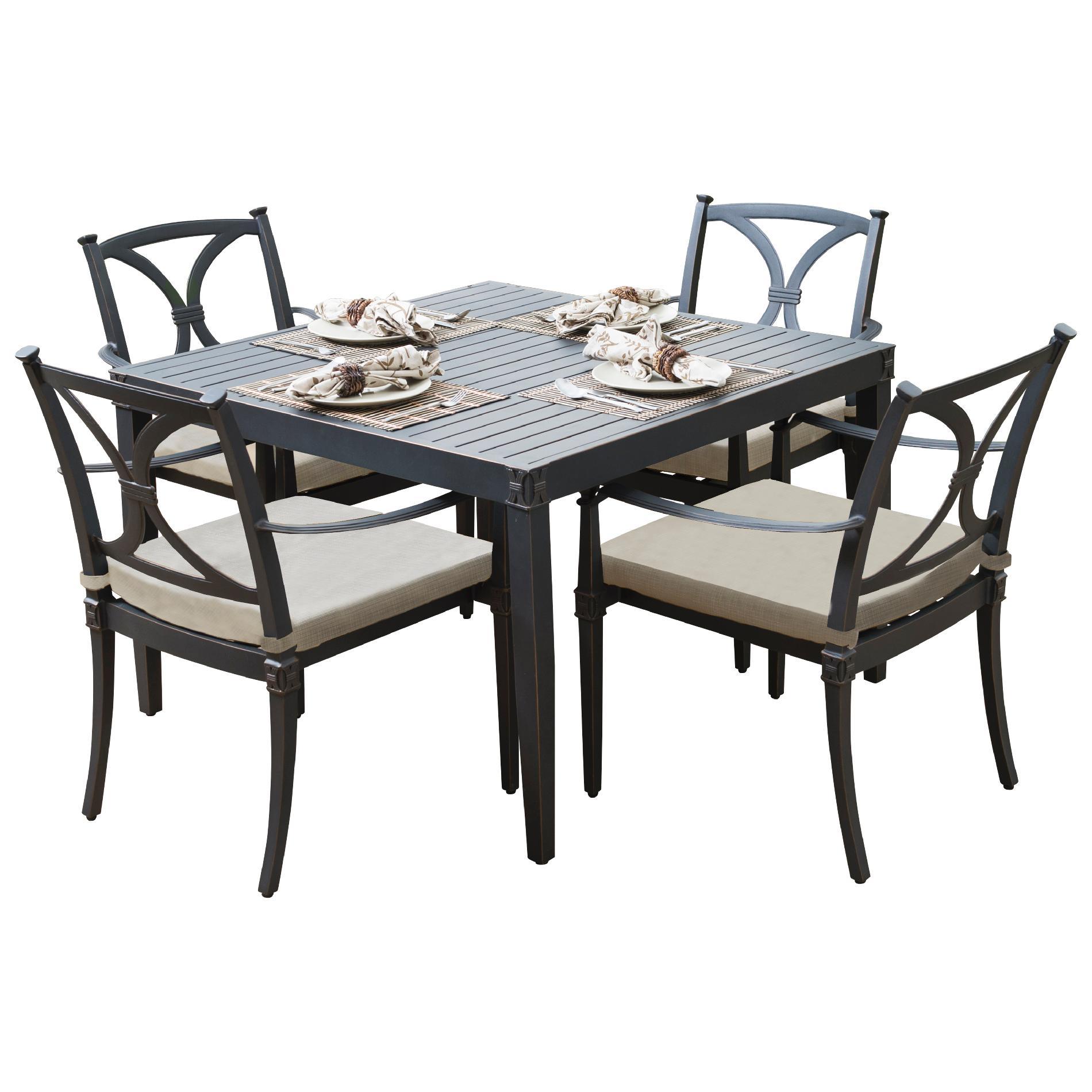RST Brands Astoria 5pc Café Dining Set - Slate