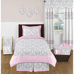 Sweet Jojo Designs Pink and Gray Elizabeth Collection 4pc Twin Bedding Set at Kmart.com