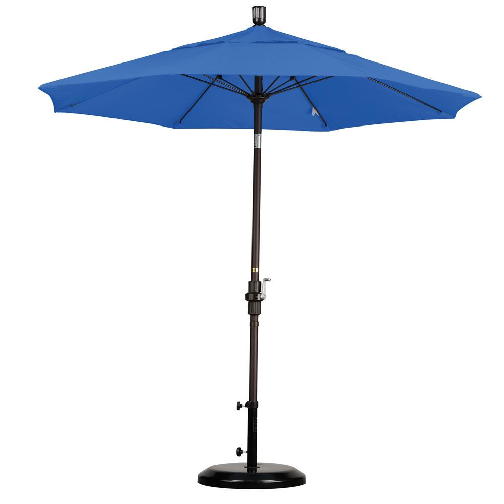 Sunline 7.5' Market Umbrella Collar Tilt-Olefin, Choice of Color