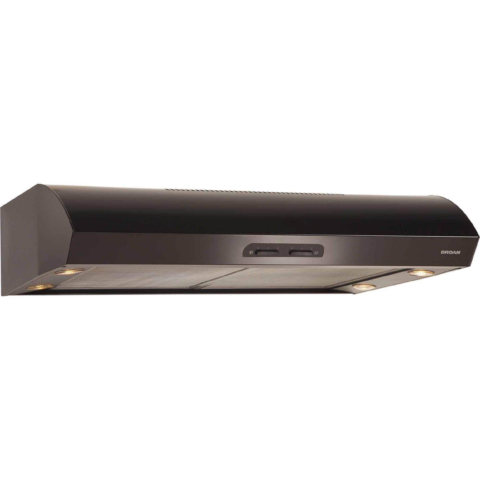 "Broan QP130BL 30"" 300 CFM Under Cabinet Range Hood - Black"