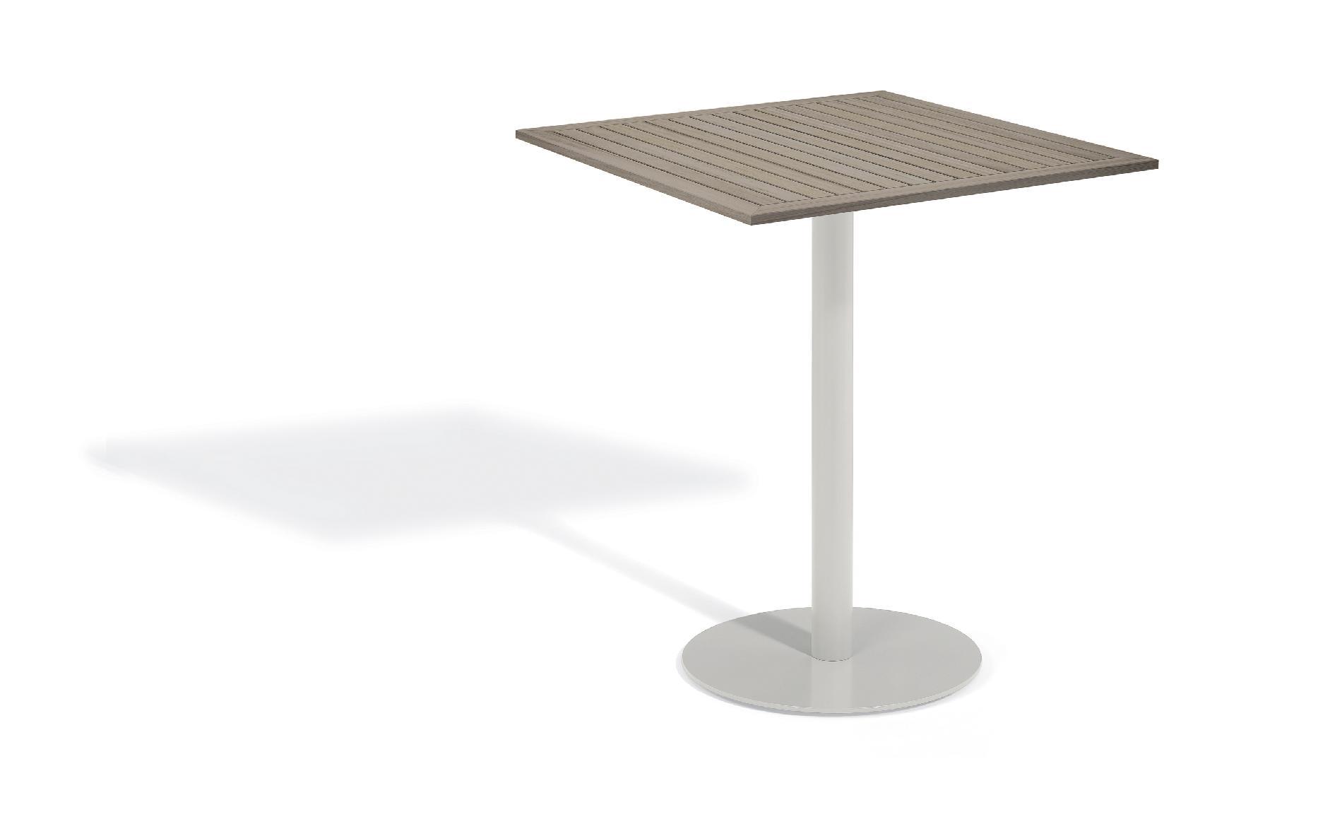 Oxford Garden Travira Commercial Grade 36'' Square Bar Table Tekwood Vintage