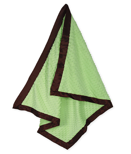 Sweet Jojo Designs Green and Chocolate Brown Baby Blanket