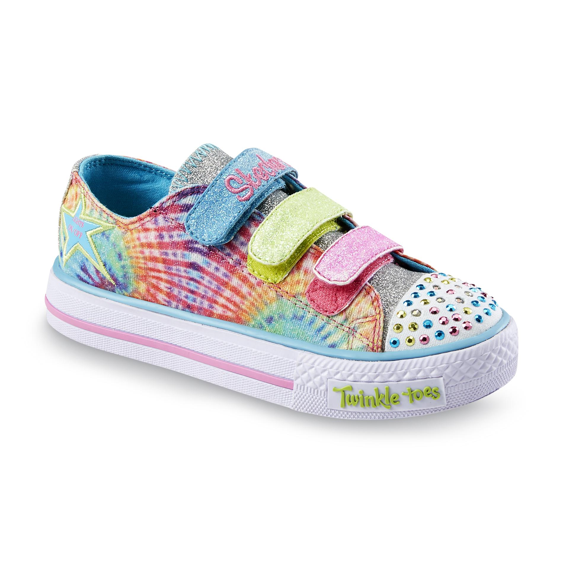 Skechers Girl s Twinkle Toes Shuffles Peace N Love