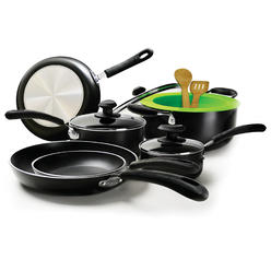 Heavy Weight 12PC Cookware Set - Black at Kmart.com