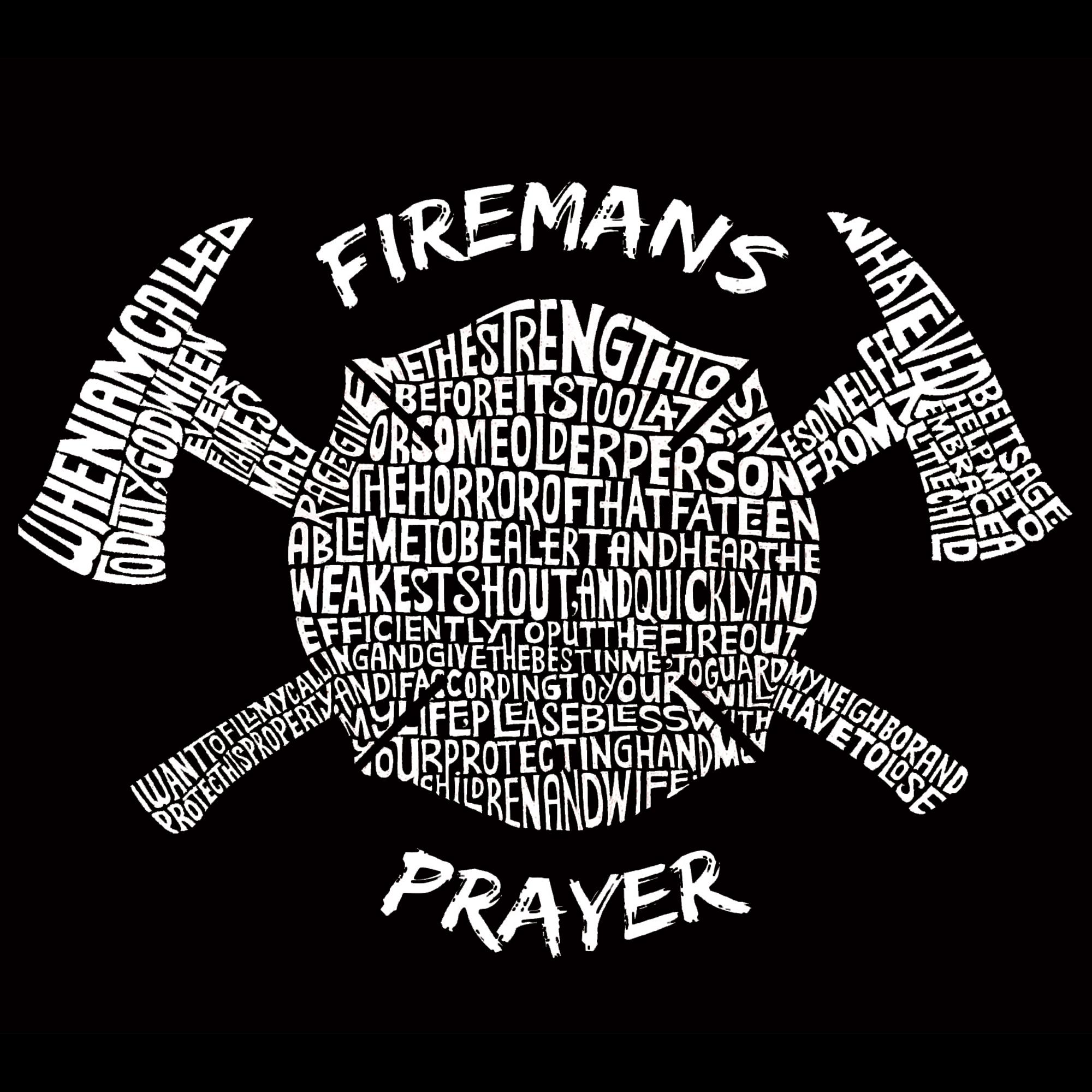 Los Angeles Pop Art Women's Word Art T-shirt - Fireman's Prayer - Online Exclusive PartNumber: 3ZZVA76564612P MfgPartNumber: YFire