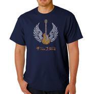 Los Angeles Pop Art Men's Big & Tall Word Art T-Shirt - Lyrics To Freebird at Kmart.com