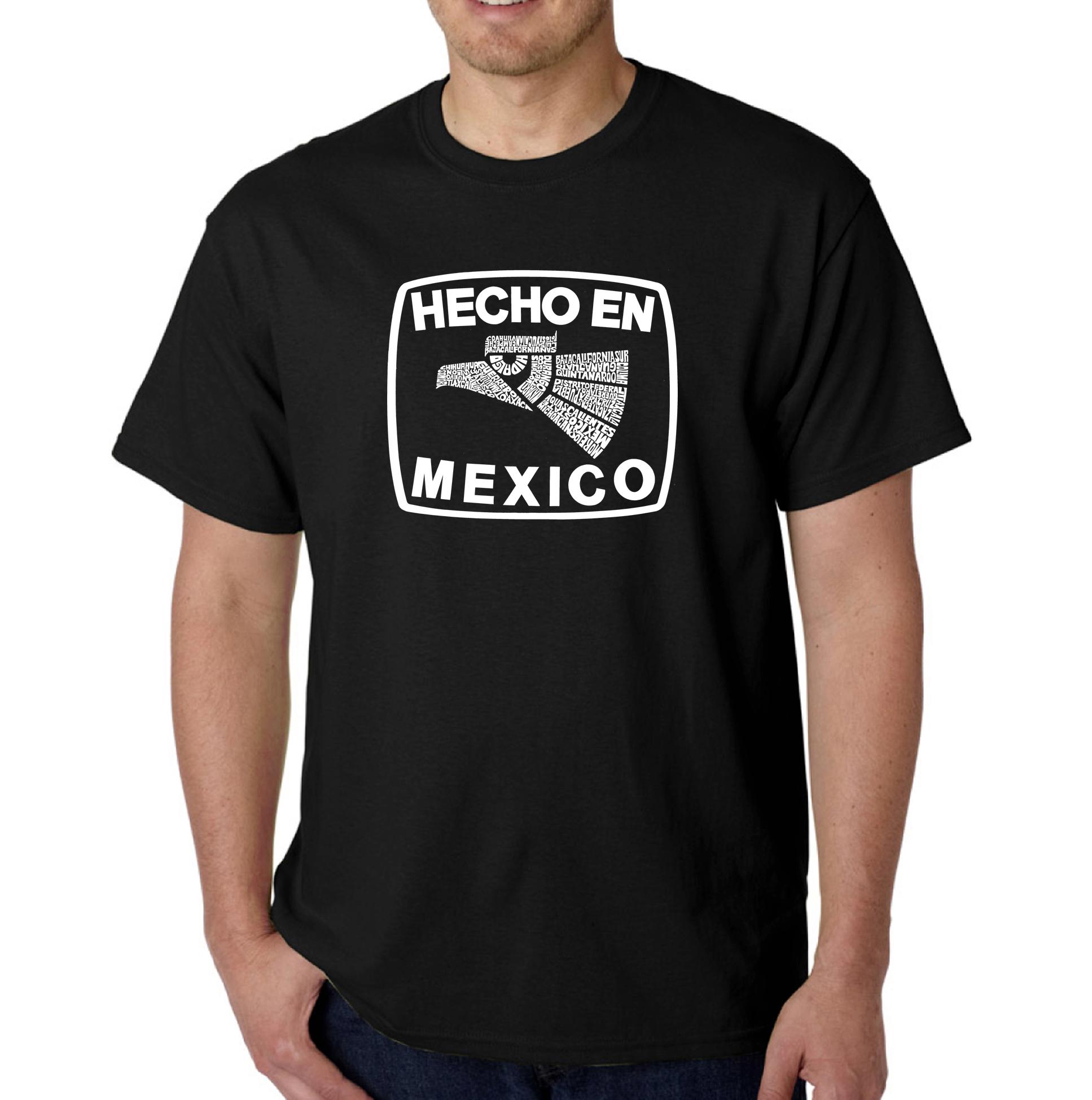 Los Angeles Pop Art Men's Word Art T-Shirt - Hecho En Mexico PartNumber: 3ZZVA77390612P MfgPartNumber: XMEXICOBlackL