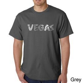 Los Angeles Pop Art Men's Big & Tall Word Art T-shirt - Vegas at Kmart.com