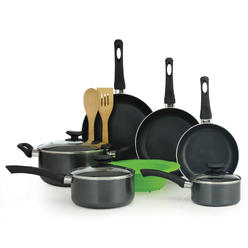 Elements 12PC Cookware Set - Black at Kmart.com