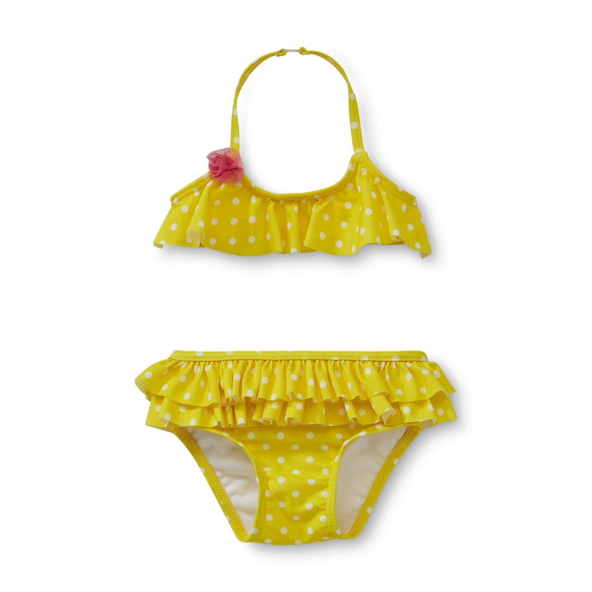 Newborn Girl's Bikini Top & Bottom - Polka Dot