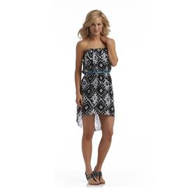 City Triangles Junior's Strapless High-Low Dress - Tribal Print at Sears.com
