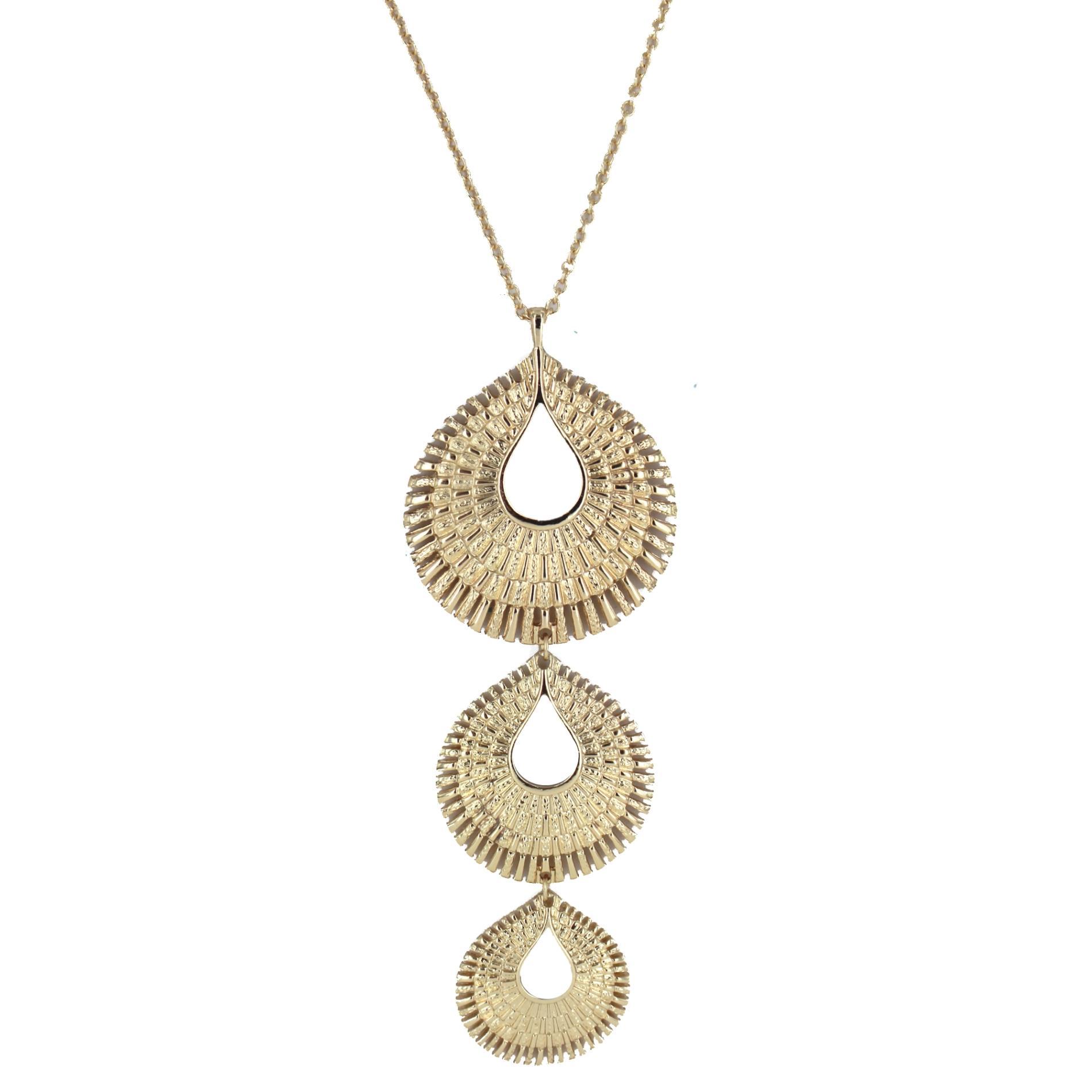 Women's Drop Disc Necklace