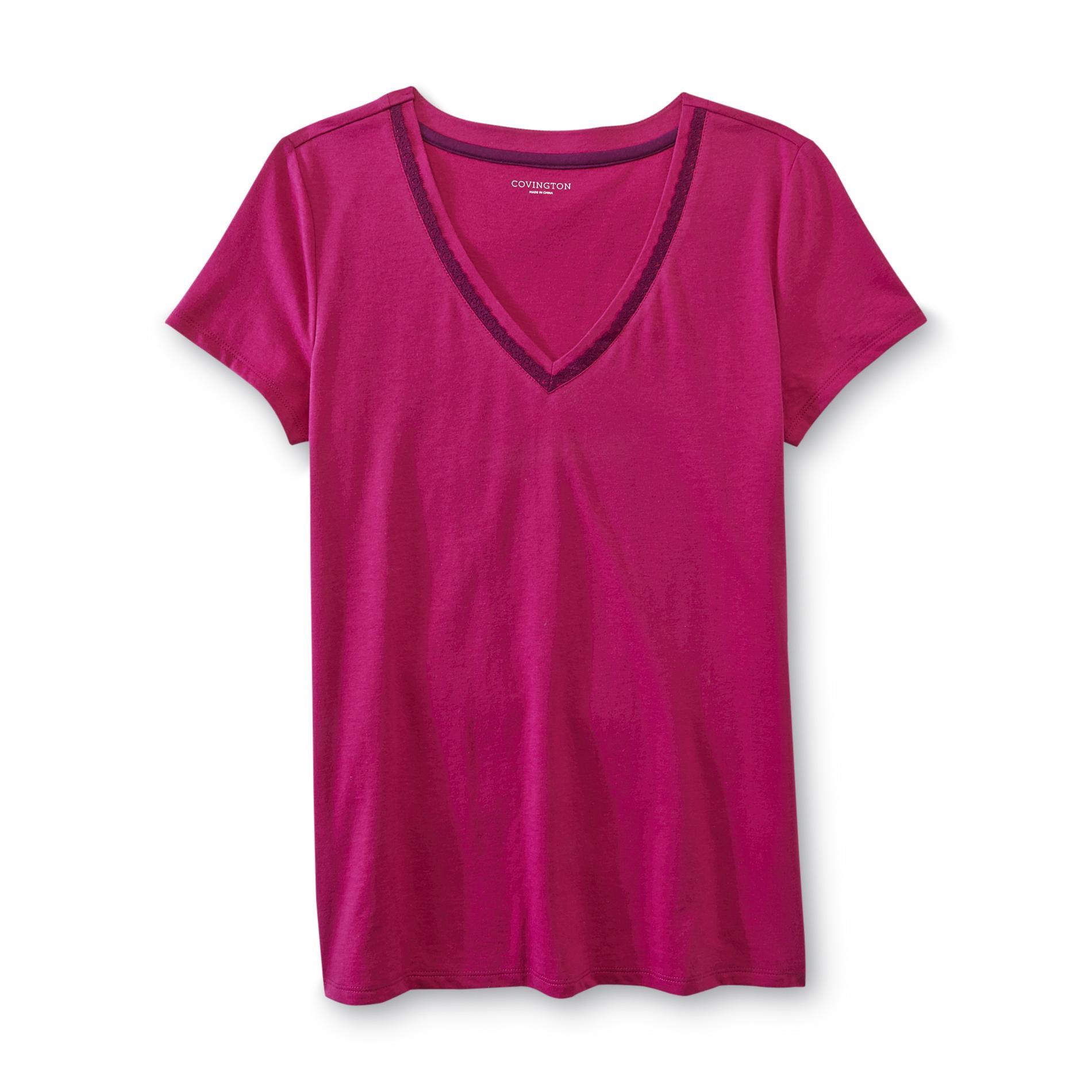 Covington Women's Lace-Trim Sleep T-Shirt at Sears.com