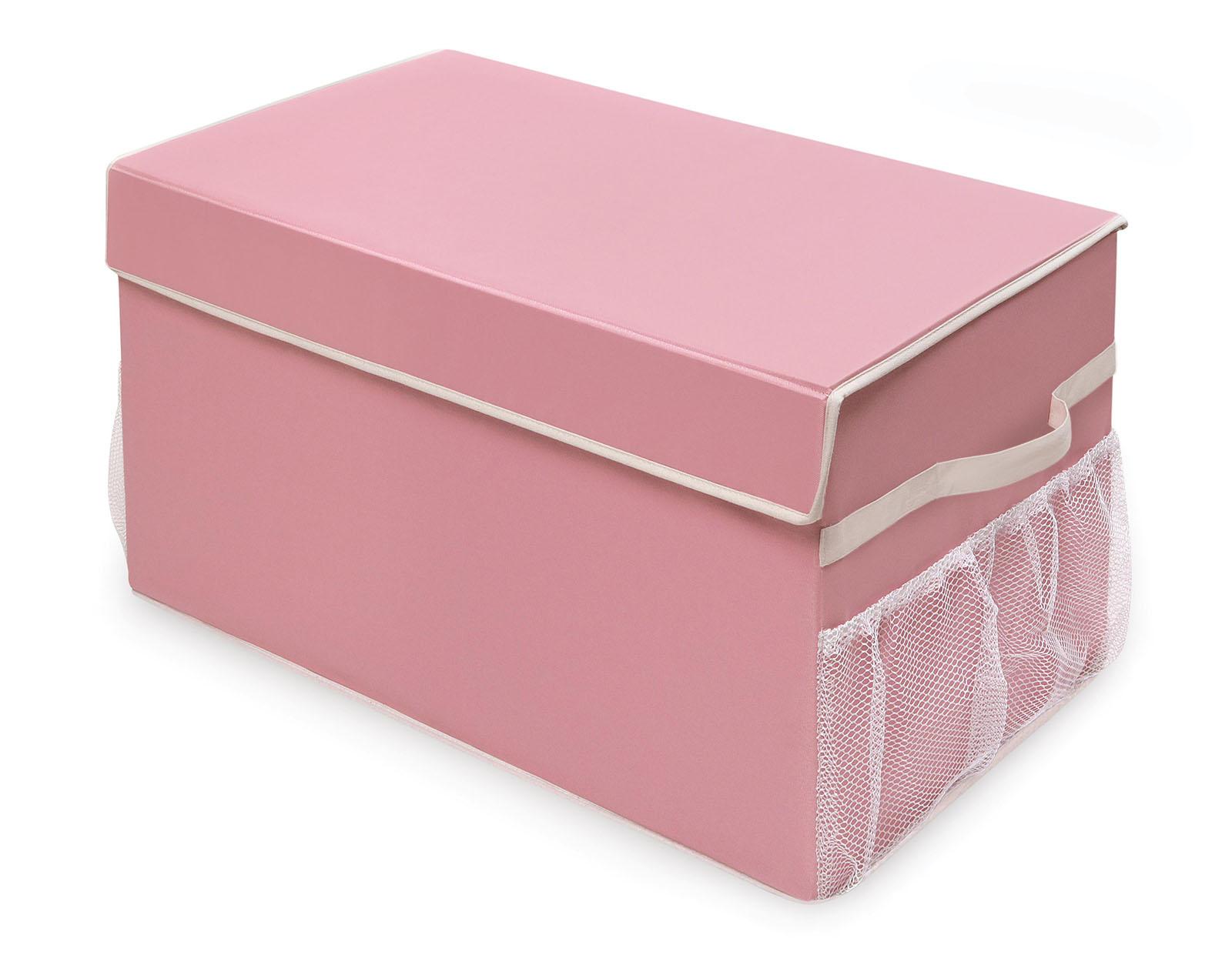 Badger Basket Large Folding Storage Box - Pink/White