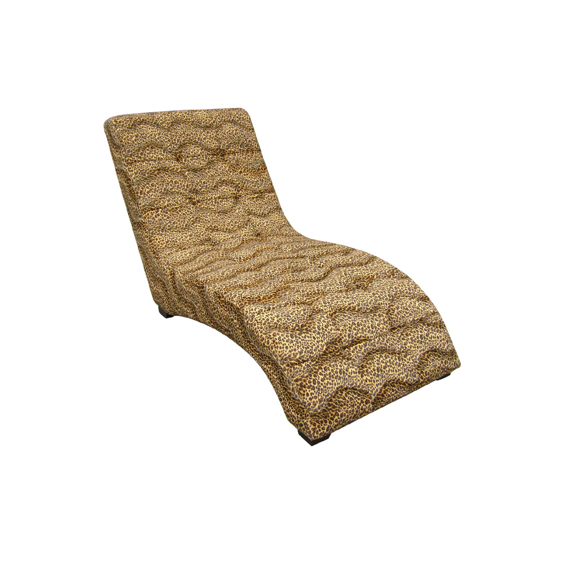 Ore International Modern Chaise with Leopard Print  sc 1 st  Sears : leopard print chaise lounge chair - Sectionals, Sofas & Couches