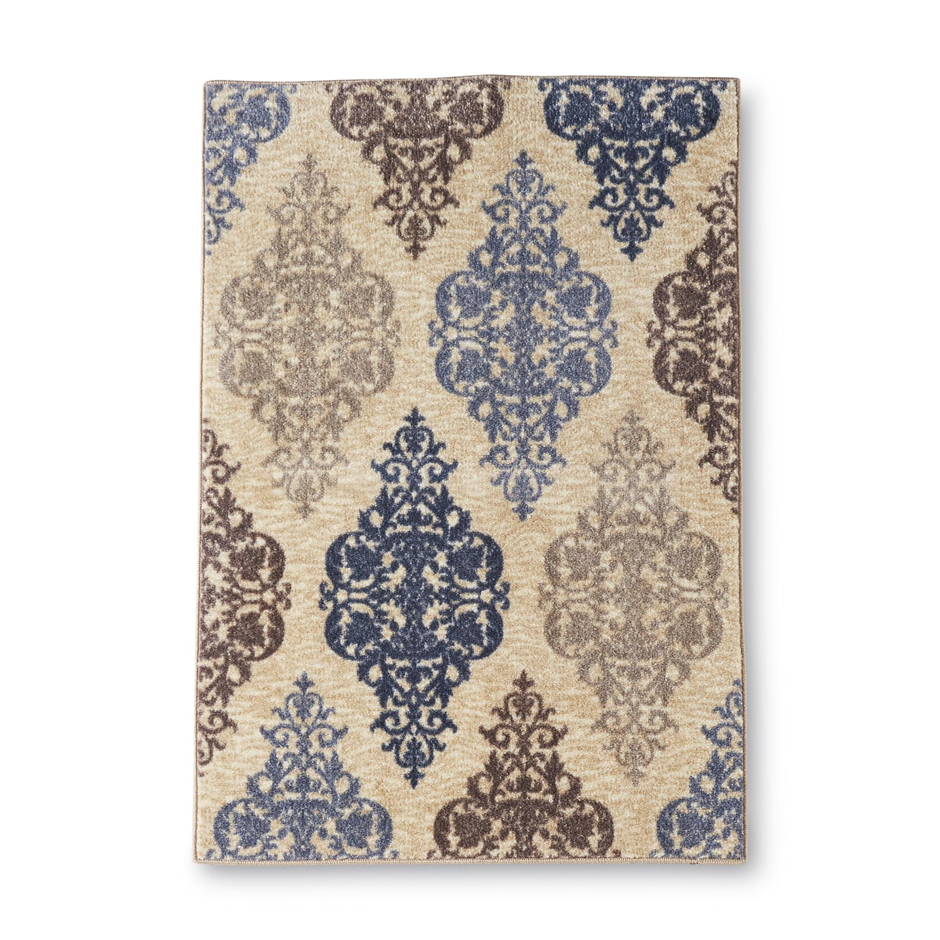 Essential Home Gallery Damask Medallion Accent Rug - 30 x 46