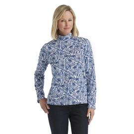 Laura Scott Women's Mock Neck Knit Top - Floral at Sears.com