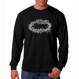 Los Angeles Pop Art Men's Big & Tall  Word Art Long Sleeve T-Shirt - Crown of Thorns at Kmart.com