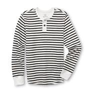 Roebuck & Co. Young Men's Thermal Henley Shirt - Striped at Sears.com