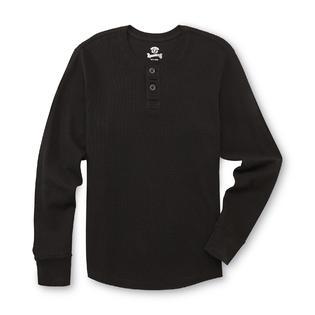 Roebuck & Co. Young Men's Thermal Henley Shirt