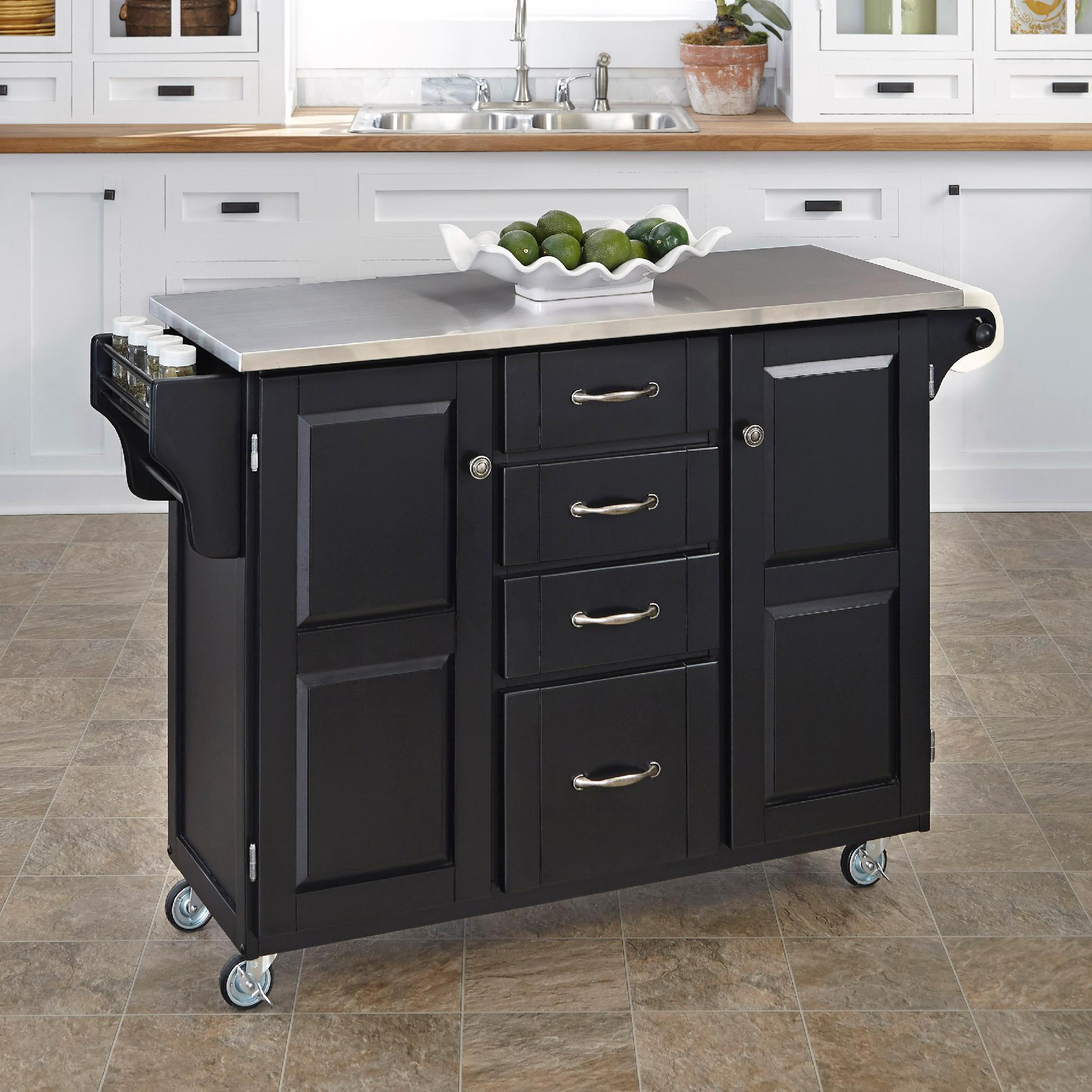 Home Styles Create-A-Cart Large Cart - Black Finish with ...